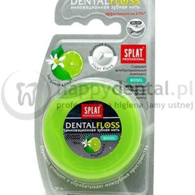 Splat Kosmetica SPLAT DentalFloss BERGAMOT-LIME 30m - woskowana nić dentystyczna, rozprężająca o smaku bergamotki i limonki