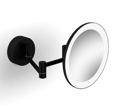 Stella Stella lusterko kosmetyczne powiększające x3 podświetlane LED ruchome ramię czarne 22.00230-B