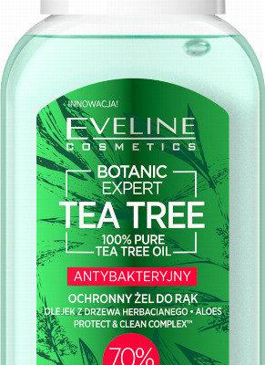 Tea Tree Eveline Cosmetics Eveline Cosmetics - BOTANIC EXPERT HAND GEL - Antybakteryjny, ochronny żel do rąk - 70% alkohol - 50 ml