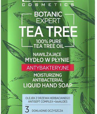 Tea Tree Eveline Eveline Botanic Expert Nawilżające Mydło w płynie antybakteryjne saszetka 75ml