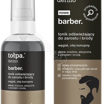 Tołpa BARBER. TONIK ODŚWIEŻAJĄCY DO ZAROSTU I BRODY 75 ML