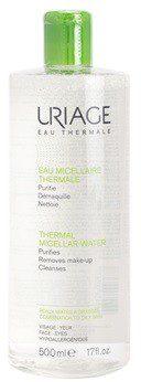 Uriage Eau Micellaire Thermale oczyszczający płyn micelarny do skóry tłustej i mieszanej Purifies Removes Make-up Cleanses 500 ml