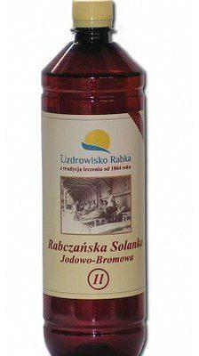 Uzdrowisko Rabka Termalna solanka jodowo-bromowa 1l -