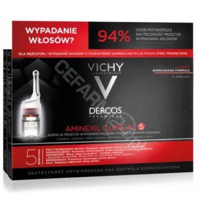 Vichy Dercos Aminexil Clinical 5 kuracja przeciw wypadaniu włosów dla mężczyzn 21 ampułek