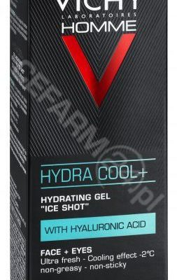 Vichy Homme Hydra Cool+ żel nawilżający z kwasem hialuronowym dla mężczyzn 50 ml