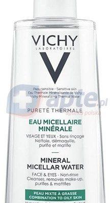 Vichy Puree Thermale mineralny płyn micelarny do skóry skóry mieszanej i tłustej 400ml