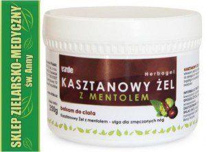 Virde Polska Sp. z o.o KASZTANOWY ŻEL Z MENTOLEM 250ml Ulga dla nóg