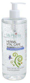 Vis Plantis Herbal Vital Care żel micelarny 3 w 1 z ekstraktem z bławatka i z pantenolem 500 ml
