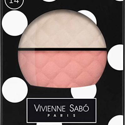 Vivienne Sabo rozświetlacz Blush Duo/Enlumineur-Fard a Joues Duo/Teinte Delicate 14  rozświetlacz/świetlik różowy