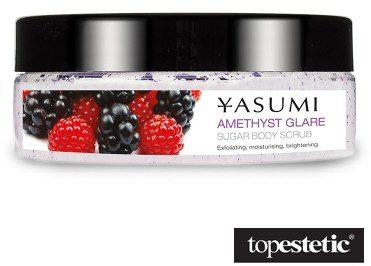 Yasumi Amethyst Glare Cukrowy peeling do ciała owoce leśne 220 g
