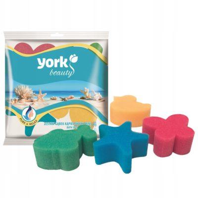 Zestaw gąbek kąpielowych dla dzieci York 4szt.