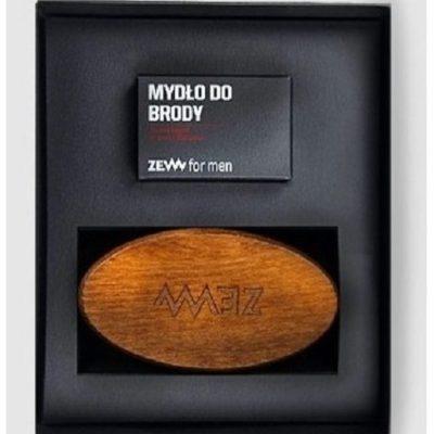 Zew Zestaw Pakiet Brodacza mydło do brody 85ml + Szczotka Brodacza szczotka do profesjonalnej pielęgnacji zarostu Zew For Men