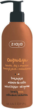 Ziaja Nawilżająco-odżywcze brązujące mleczko do ciała Cupuacu - Body Milk Nawilżająco-odżywcze brązujące mleczko do ciała Cupuacu - Body Milk