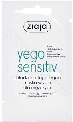 Ziaja Yego Sensitiv chłodząco łagodząca maska w żelu dla mężczyzn 7 ml