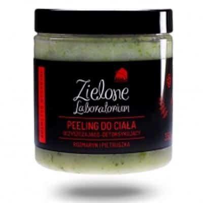 zielone laboratorium Peeling do ciała oczyszczająco-detoksykujący z rozmarynem i pietruszką 350g Zielone Laboratorium