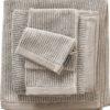 Marc O'Polo Rękawica kąpielowa Timeless Tone Stripe beżowo-biała 730007-200-075