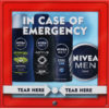 Nivea Men In Case Of Emergency Zestaw 2x Żel Pod Prysznic 50ml + Antyperspirant 35ml + Krem Do Twarzy 30ml