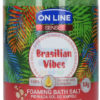 On Line Senses Pieniąca sól do kąpieli Brasilian Vibes 480 g