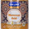 On Line Senses Pieniąca sól do kąpieli Moroccan Gold 480 g
